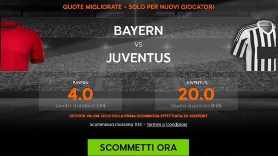 888 bonus bayer juve